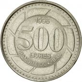 Lebanon, 500 Livres, 1996, AU(55-58), Nickel plated steel, KM:39