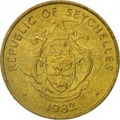 Coin, Seychelles, 10 Cents, 1982, British Royal Mint, EF(40-45), Brass, KM:48.1
