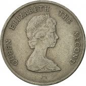 East Caribbean States, Elizabeth II, 25 Cents, 1996, EF(40-45), Copper-nickel