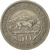 EAST AFRICA, George VI, 50 Cents, 1949, TTB, Copper-nickel, KM:30
