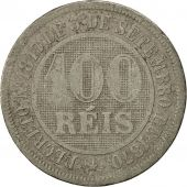 Brésil, Pedro II, 100 Reis, 1886, B+, Copper-nickel, KM:483
