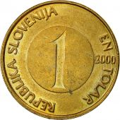 Slovenia, Tolar, 2000, EF(40-45), Nickel-brass, KM:4
