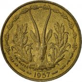 French West Africa, 10 Francs, 1957, Paris, TTB, Aluminum-Bronze, KM:8