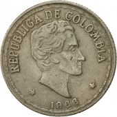 Colombia, 20 Centavos, 1966, EF(40-45), Copper-nickel, KM:215.3