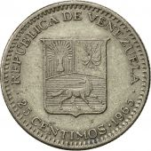 Venezuela, 25 Centimos, 1965, British Royal Mint, TTB, Nickel, KM:40