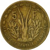 French West Africa, 5 Francs, 1956, Paris, TB+, Aluminum-Bronze, KM:5
