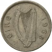 IRELAND REPUBLIC, 3 Pence, 1968, EF(40-45), Copper-nickel, KM:12a