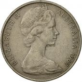 Australia, Elizabeth II, 20 Cents, 1967, EF(40-45), Copper-nickel, KM:66