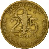 French West Africa, 25 Francs, 1957, Paris, TB+, Aluminum-Bronze, KM:9