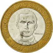 Coin, Dominican Republic, 5 Pesos, 1997, AU(50-53), Bi-Metallic, KM:88