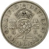 Great Britain, George VI, Florin, Two Shillings, 1950, EF(40-45), Copper-nickel