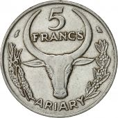 Madagascar, 5 Francs, Ariary, 1972, Paris, TTB, Stainless Steel, KM:10