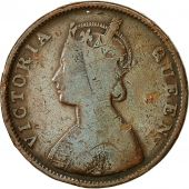 INDIA-BRITISH, Victoria, 1/2 Anna, 1862, VF(20-25), Copper, KM:468