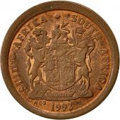 South Africa, 2 Cents, 1992, EF(40-45), Copper Plated Steel, KM:133