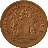South Africa, Cent, 1992, EF(40-45), Copper Plated Steel, KM:132