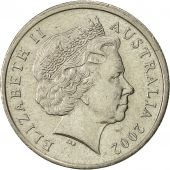 Australia, Elizabeth II, 5 Cents, 2002, AU(50-53), Copper-nickel, KM:401