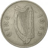 IRELAND REPUBLIC, 10 Pence, 1969, TTB, Copper-nickel, KM:23