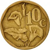 South Africa, 10 Cents, 1993, EF(40-45), Bronze Plated Steel, KM:135