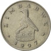 Zimbabwe, 20 Cents, 1997, AU(55-58), Copper-nickel, KM:4