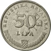 Monnaie, Croatie, 50 Lipa, 1993, TTB+, Nickel plated steel, KM:8