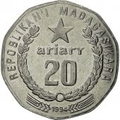 Madagascar, 20 Ariary, 1994, Royal Canadian Mint, SUP, Nickel Clad Steel