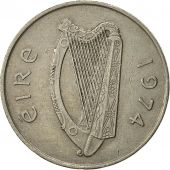 IRELAND REPUBLIC, 10 Pence, 1974, TTB, Copper-nickel, KM:23