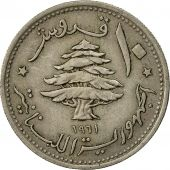 Lebanon, 10 Piastres, 1961, TTB, Copper-nickel, KM:24