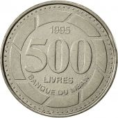 Lebanon, 500 Livres, 1995, EF(40-45), Nickel plated steel, KM:39