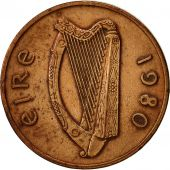 IRELAND REPUBLIC, Penny, 1980, TTB, Bronze, KM:20