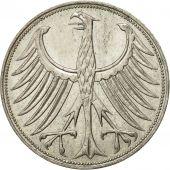 République fédérale allemande, 5 Mark, 1967, Munich, TTB, Argent, KM:112.1