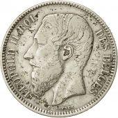 Belgium, Leopold II, 2 Francs, 2 Frank, 1867, VF(30-35), Silver, KM:30.1