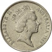 Coin, Australia, Elizabeth II, 10 Cents, 1989, EF(40-45), Copper-nickel, KM:81