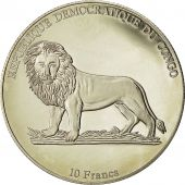 Coin, CONGO, DEMOCRATIC REPUBLIC, 10 Francs, 2002, MS(65-70), Copper-nickel