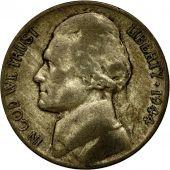Monnaie, États-Unis, Jefferson Nickel, 5 Cents, 1944, U.S. Mint, Philadelphie