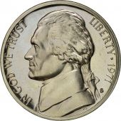Monnaie, États-Unis, Jefferson Nickel, 5 Cents, 1971, U.S. Mint, San Francisco