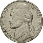 Monnaie, États-Unis, Jefferson Nickel, 5 Cents, 1989, U.S. Mint, Denver, TTB+