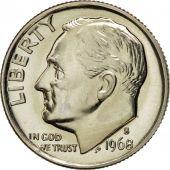 Coin, United States, Roosevelt Dime, Dime, 1968, U.S. Mint, San Francisco