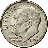 Coin, United States, Roosevelt Dime, Dime, 2001, U.S. Mint, Denver, AU(55-58)