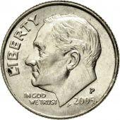 Coin, United States, Roosevelt Dime, Dime, 2005, U.S. Mint, Philadelphia