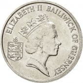 Coin, Guernsey, Elizabeth II, 5 Pence, 1986, Heaton, EF(40-45), Copper-nickel