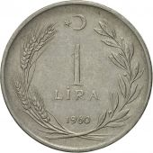 Coin, Turkey, Lira, 1960, EF(40-45), Stainless Steel, KM:889a.1