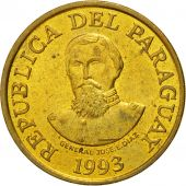 Coin, Paraguay, 100 Guaranies, 1993, AU(55-58), Brass plated steel, KM:177a