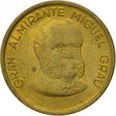 Coin, Peru, 20 Centimos, 1987, Lima, EF(40-45), Brass, KM:294