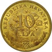 Monnaie, Croatie, 10 Lipa, 2001, TTB, Brass plated steel, KM:6