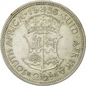 Coin, South Africa, Elizabeth II, 2-1/2 Shillings, 1958, EF(40-45), Silver