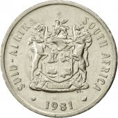 Coin, South Africa, 20 Cents, 1981, EF(40-45), Nickel, KM:86