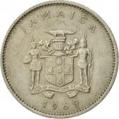 Coin, Jamaica, Elizabeth II, 10 Cents, 1969, Franklin Mint, EF(40-45)