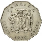 Coin, Jamaica, Elizabeth II, 50 Cents, 1975, Franklin Mint, EF(40-45)