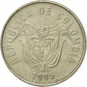Coin, Colombia, 50 Pesos, 2005, AU(50-53), Copper-Nickel-Zinc, KM:283.2