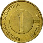 Coin, Slovenia, Tolar, 2001, EF(40-45), Nickel-brass, KM:4